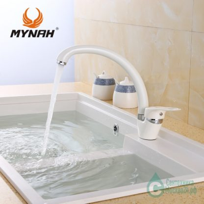 Смеситель для кухни белый M5925j (1)