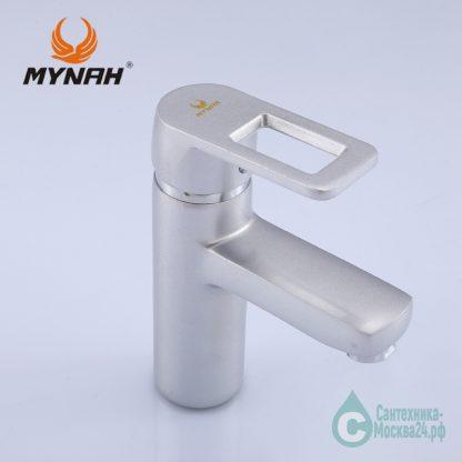 Смеситель для раковины матовы М1006Н серебро (3)