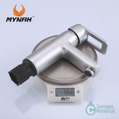 Смеситель для раковины матовы М1006Н серебро (4)