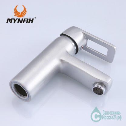 Смеситель для раковины матовы М1006Н серебро (5)