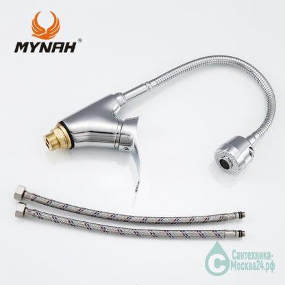 Смеситель с гибким изливом MYNAH M5201 серии M01 (5)