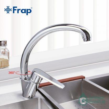 Смеситель FRAP F4184 для кухни хром на мойке
