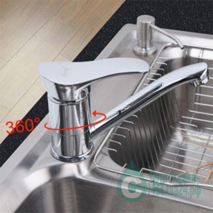 Смеситель FRAP F4501-2 для кухни поворот 360