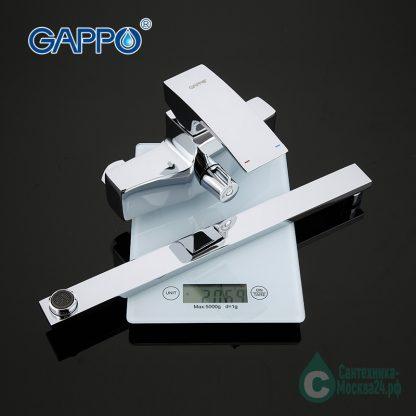 Смеситель GAPPO G2207-35Х для ванны с душем вес