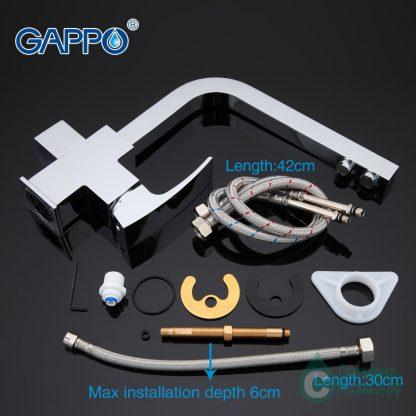 Смеситель GAPPO G4307 для кухни с фильтром для питьевой воды