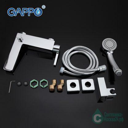 Смеситель Gappo Chanel А4 G3004 для ванны фото комплекта