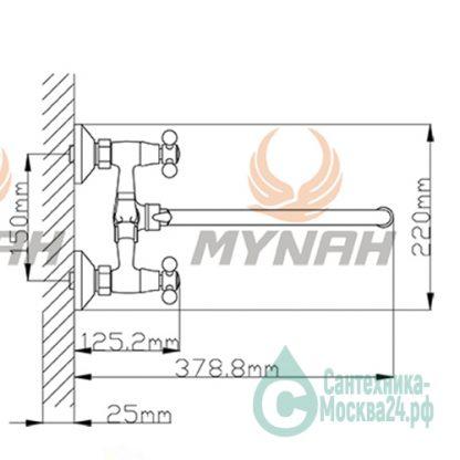 Смеситель MYNAH M2265 для ванны вентильный (7)