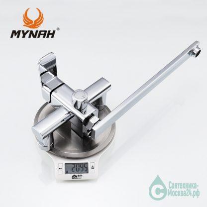 MYNAH M2204 для ванны хром однорукий вес