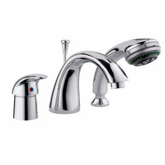 Смеситель FRAP F1121 для ванны на борт ванны однорычажный хром (2)