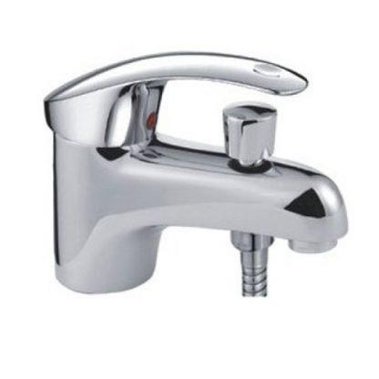 Смеситель FRAP F1221 для раковины с гигиеническим душем хром однорычажный (1)
