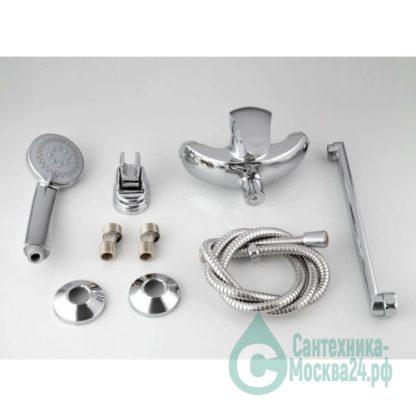 Смеситель FRAP F2221 для ванны хром однорычажный гибкий излив (1)