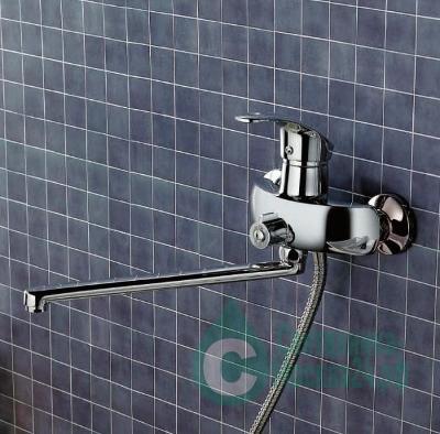 Смеситель FRAP F2221 для ванны хром однорычажный гибкий излив (2)