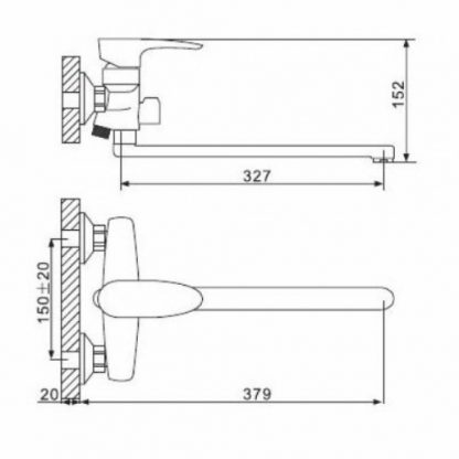 Смеситель GAPPO AGILIS G2262 для ванны