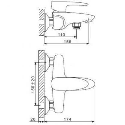 Смеситель GAPPO AGILIS G3262 для ванны