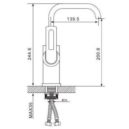 Смеситель GAPPO AVANDA G4101 для кухни размеры и вес