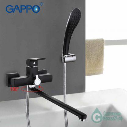 Смеситель GAPPO AVENTADOR G2250 для ванны черный (2)