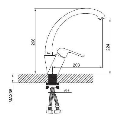 Смеситель GAPPO AVENTADOR G4150 для кухни размеры