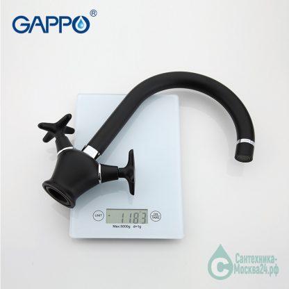 Смеситель GAPPO EVORA G4051 для кухни черный (4)