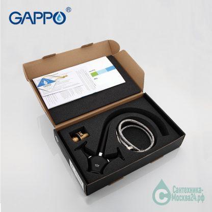 Смеситель GAPPO EVORA G4051 для кухни черный (5)