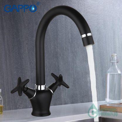 Смеситель GAPPO EVORA G4051 для кухни черный (6)