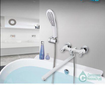 Смеситель GAPPO G2249 для ванны белый двухвентильный (1)
