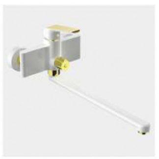 Смеситель GAPPO G2280 для ванны белый с золотом однорычажный