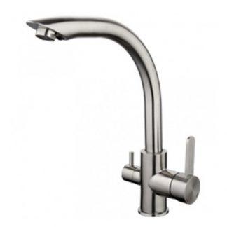 Смеситель GAPPO G4399 для кухни матовый хром с краном для питьевой воды