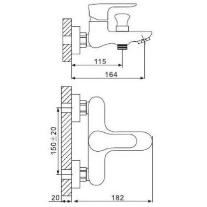 Смеситель GAPPO GLOBE G3261 для ванны схема
