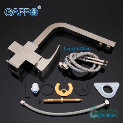 Смеситель GAPPO JACOB G4307-5 для кухни сатин (5)