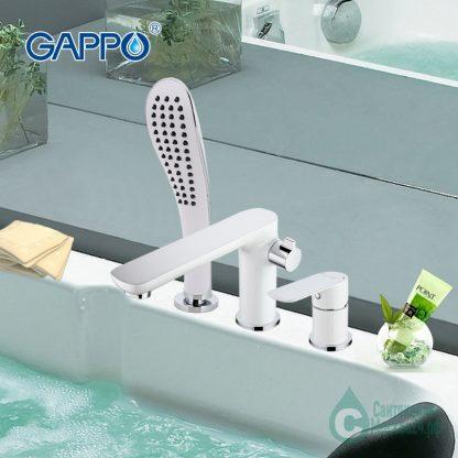 Смеситель GAPPO NOAR G1148 на борт ванны белый (5)