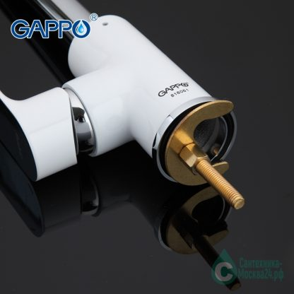 Смеситель GAPPO NOAR G4048 для кухни белый (2)
