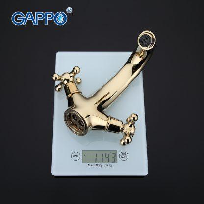 Смеситель GAPPO SOFIA G1063-6 для раковины золото (5)