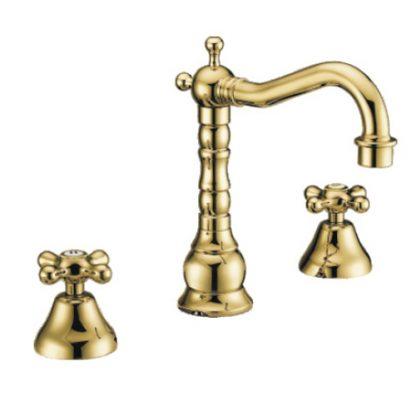 Смеситель GAPPO SOFIA G1163-6 для раковины двухвентильный золото ретро стиль