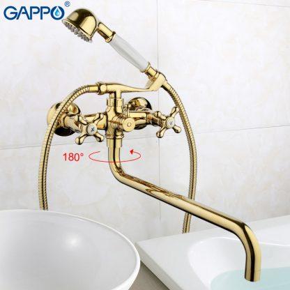 Смеситель GAPPO SOFIA G2263-6 для ванны в цвете золото (6)