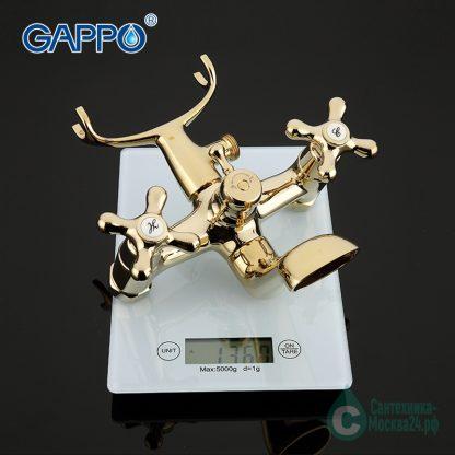 Смеситель GAPPO SOFIA G3263-6 для ванны золотой (6)