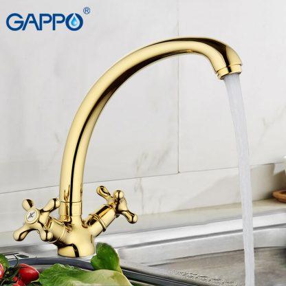 Смеситель GAPPO SOFIA G4163-6 для кухни золотой