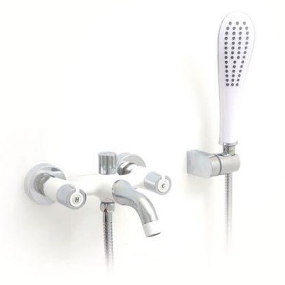 Смеситель GAPPO STELLA G3249 для ванны хром белый двухвентильный
