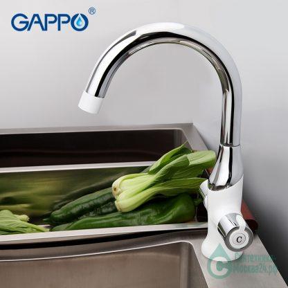 Смеситель GAPPO STELLA G4049 для кухни белый (1)