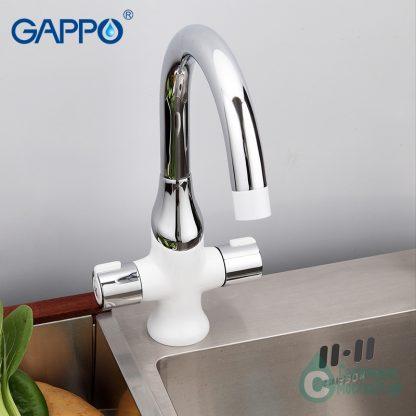 Смеситель GAPPO STELLA G4049 для кухни белый (6)