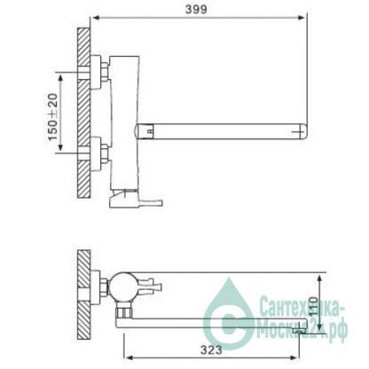 Смеситель GAPPO TATA G2209 для ванны