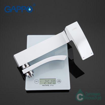 GAPPO JACOB G3207-8 каскадный белый для ванны (6)
