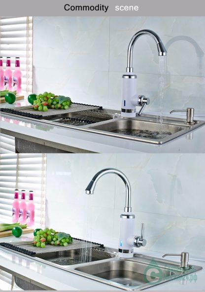 Электрический смеситель с поворотным изливом MYNAH A403 для кухни (3)