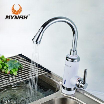 Электрический смеситель с поворотным изливом MYNAH A403 для кухни (5)