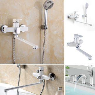 Смесители для ванны белого цвета