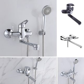 Смесители для ванны c поворотным изливом