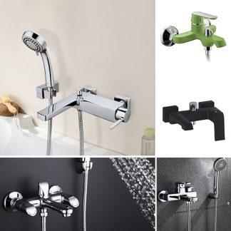 Смесители для ванны c фиксированным изливом